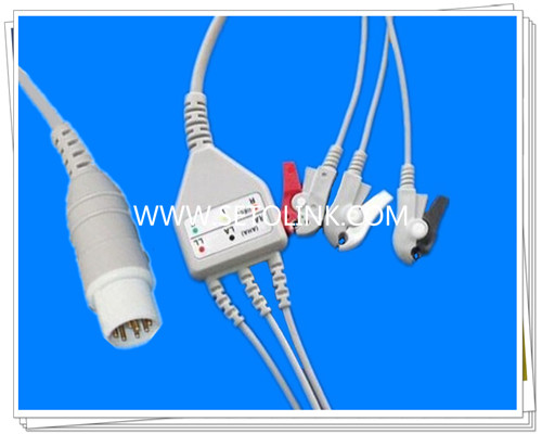Mennen 10 Pin One Piece ECG Cable