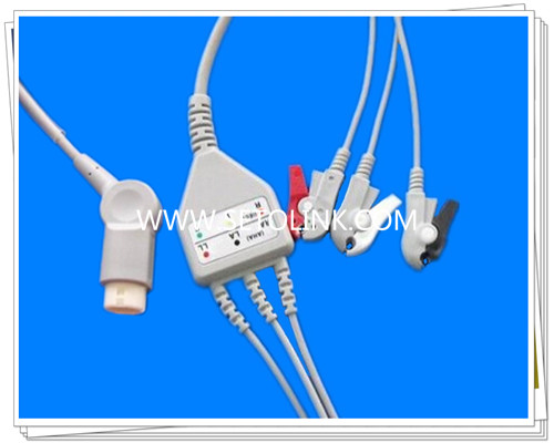 Philips 12 Pin One Piece ECG Cable