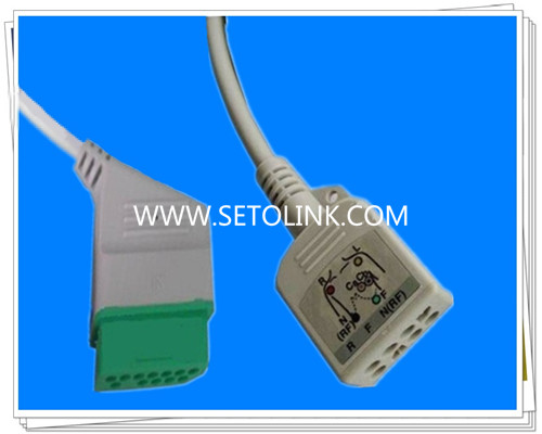 Nihon Kohden 12 Pin ECG Trunk Cable JC 906PA