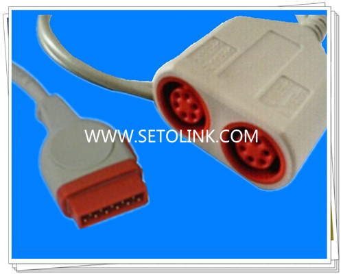 GE Dual IBP Converter Cable,11 Pin To 6 Pin
