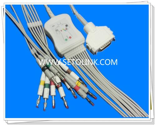 Fukuda Denshi One Piece ECG Cable 10 Leadwires
