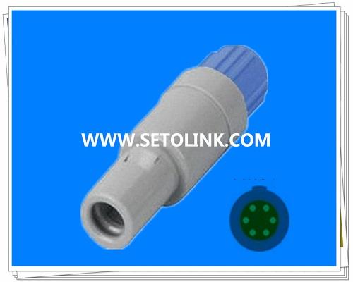 6 Pin Circular Plastic Male Plug