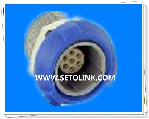7 Pin Circular Plastic Female Connector
