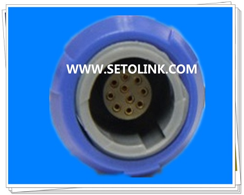 10 Pin Circular Plastic Female Connector