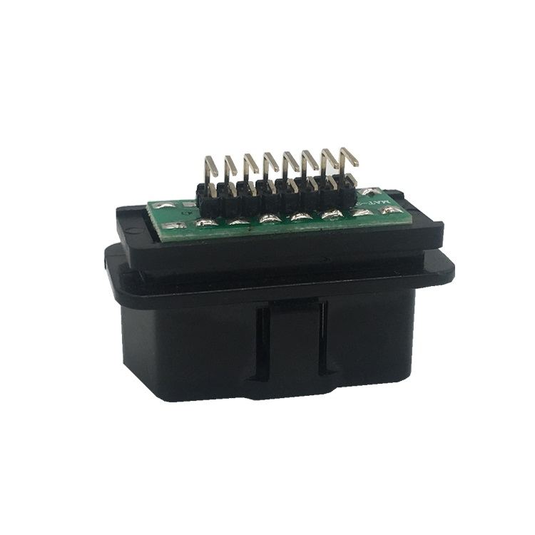Right Angle12V OBDII 16 Pin Male Connector ST SOM011A